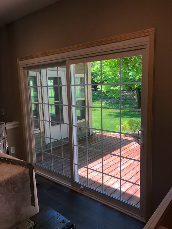 alside vinyl sliding door, 6100 series, insulated, low-e glass, double pane, insulated glass, grids, fishers, indiana, replacement windows