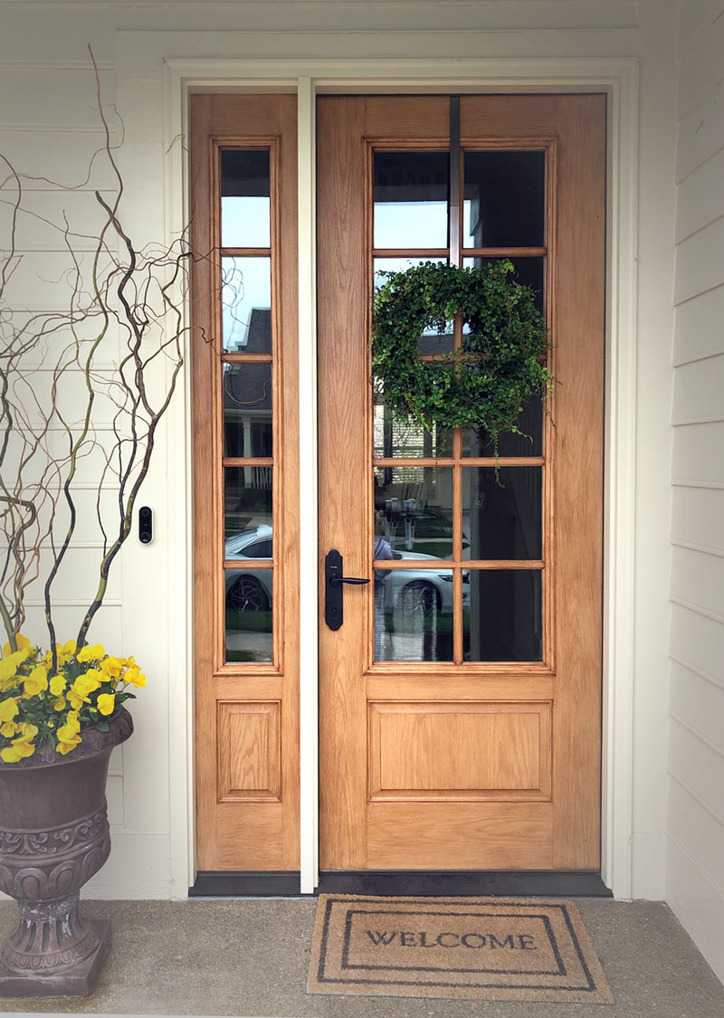 therma-tru fiberglass door real wood gel coated process carmel indiana entry door front door curb appeal