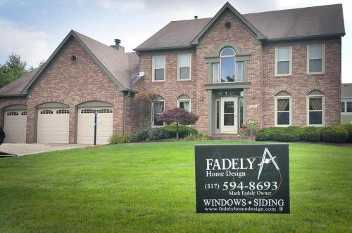 exterior, alside, mezzo vinyl beige doublehung, enery star, replacement windows. Family owned business serving   Carmel, Fishers, Indianapolis and surround counties in Indiana since 1994.