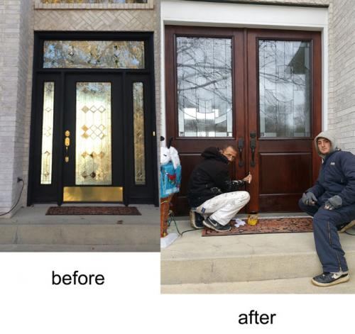 stain, entry-door, thermatru, carmel, fishers, Indianapolis, Indiana, door installation, door replacement