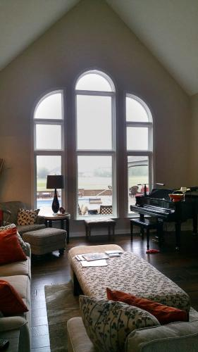 Pella Proline special shape casement windows – real wood – aluminum clad, window replacement, window installation, Carmel, Fishers, Indianapolis, Indiana