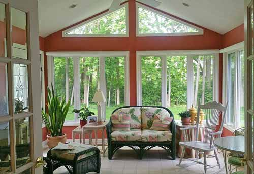 Alside Sun Room with energy efficient windows, window replacement, window installation.  Family owned business serving Carmel, Fishers, Indianapolis,  and other surrounding counties in Indiana since 1994.